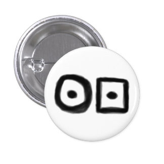 Hobo symbol: Ill Tempered one (black print) Pinback Button