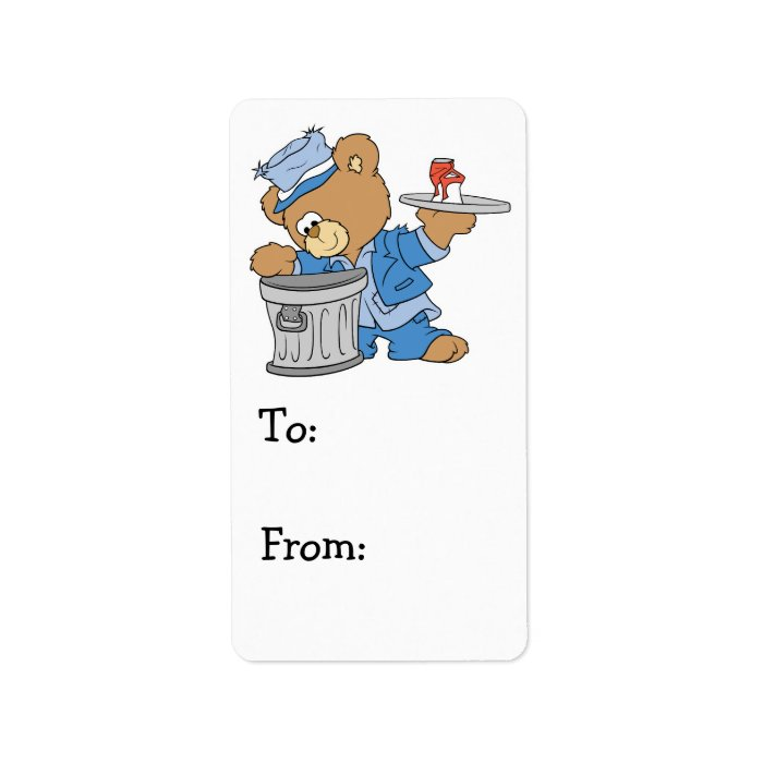 Hobo Teddy Bear Label