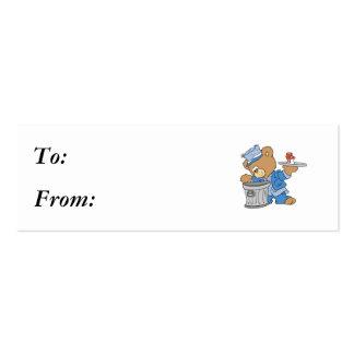 Hobo Teddy Bear Mini Business Card