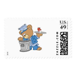 Hobo Teddy Bear Postage Stamps