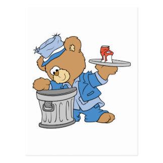Hobo Teddy Bear Post Card