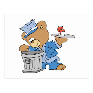 Hobo Teddy Bear Postcard