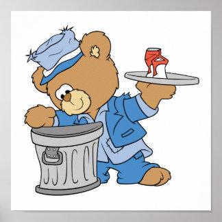 Hobo Teddy Bear Poster