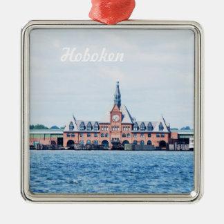Hoboken Adorno Navideño Cuadrado De Metal