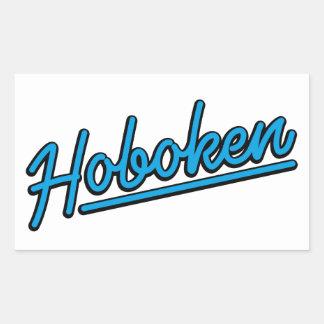 Hoboken en ciánico pegatina rectangular