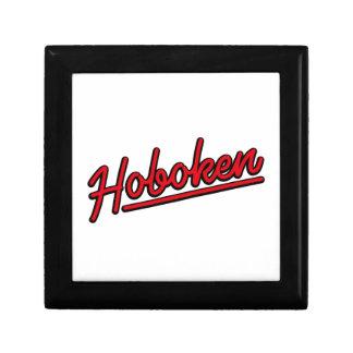 Hoboken en rojo caja de joyas