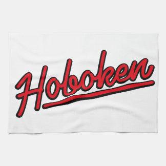 Hoboken en rojo toallas