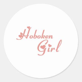 Hoboken Girl tee shirts Round Sticker