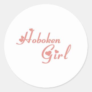 Hoboken Girl tee shirts Round Stickers