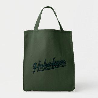Hoboken in cyan canvas bag