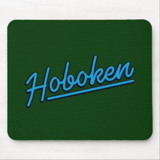 Hoboken in cyan mouse pad