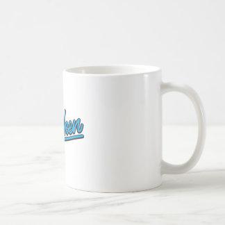Hoboken in cyan mug