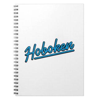 Hoboken in cyan spiral note books