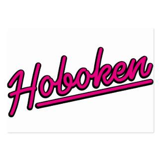 Hoboken in magenta business cards
