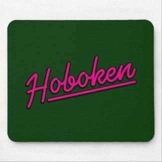 Hoboken in magenta mouse pad