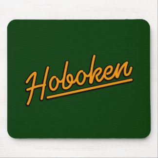 Hoboken in orange mouse pad