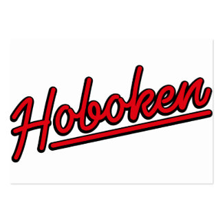 Hoboken in red business card templates