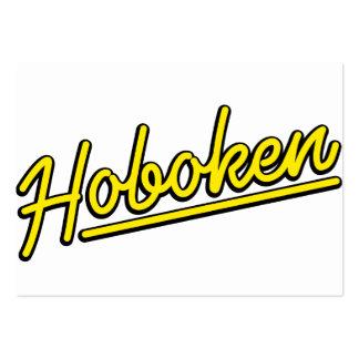 Hoboken in yellow business card template