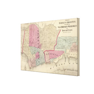 Hoboken, Jersey City Gallery Wrapped Canvas