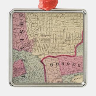 Hoboken, Jersey City Metal Ornament