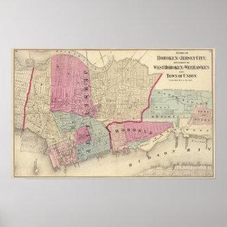 Hoboken, Jersey City Print