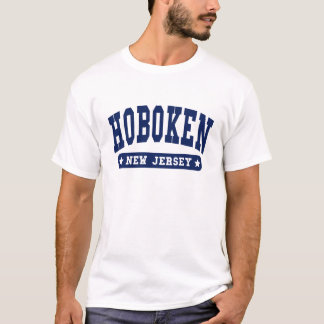 Hoboken New Jersey College Style tee shirts