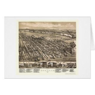 Hoboken NJ Panoramic Map - 1881 Card