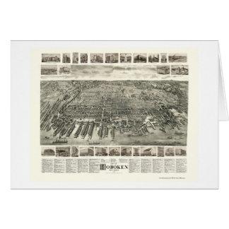 Hoboken NJ Panoramic Map - 1904 Cards