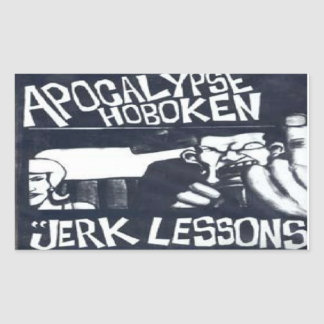 hoboken pegatina rectangular