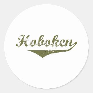 Hoboken  Revolution t shirts Round Stickers