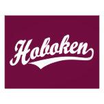 Hoboken script logo in white flyers