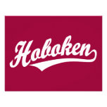 Hoboken script logo in white personalized invitations