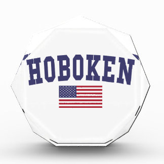 Hoboken US Flag Acrylic Award
