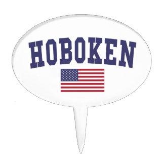 Hoboken US Flag Cake Topper