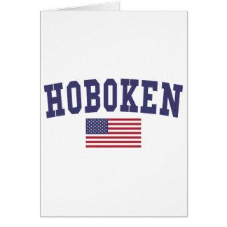 Hoboken US Flag Card