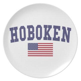 Hoboken US Flag Dinner Plate