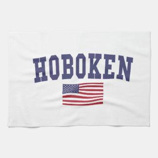 Hoboken US Flag Hand Towel