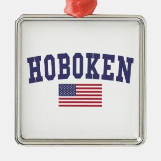 Hoboken US Flag Metal Ornament