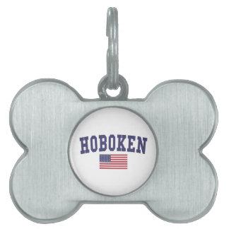 Hoboken US Flag Pet Tag