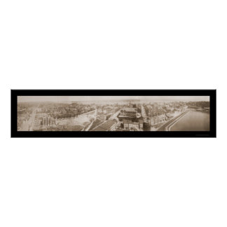 Hoboken Weehawken NJ Photo 1909 Poster