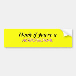 HOBOSEXUAL Bumper Sticker