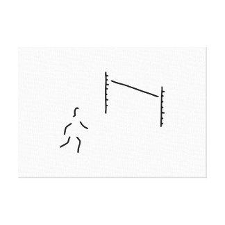 hochsprung leichtathletik hochspringer lienzo envuelto para galerías