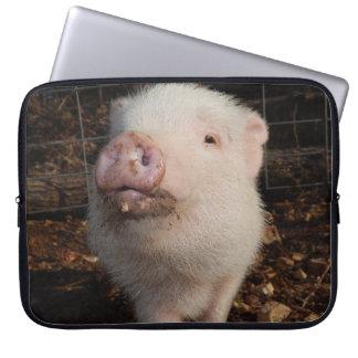 Hocico sucio, cerdo, manga del ordenador portátil mangas portátiles