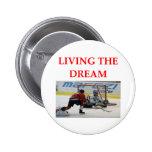 hockey 2 inch round button