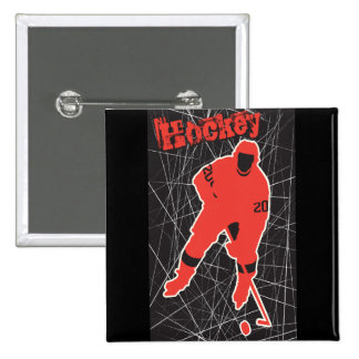 Hockey 2 Inch Square Button