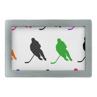 Hockey 2 rectangular belt buckle