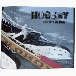 Hockey 3 Photo Album 3 Ring Binder