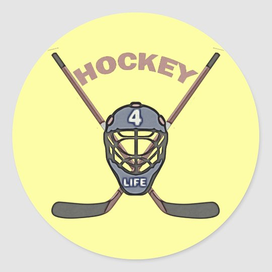 HOCKEY 4 LIFE CLASSIC ROUND STICKER