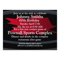 Hockey Birthday Invitations Zazzle