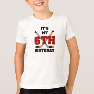 Hockey 6th Birthday T-Shirt